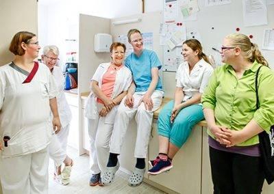 Team Pflegepersonal im Seniorenheim St. Josef